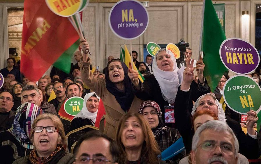 Kurds advocating for the