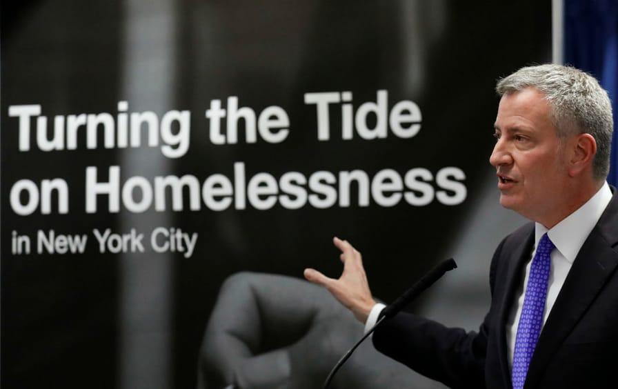 De Blasio Homelessness NYC