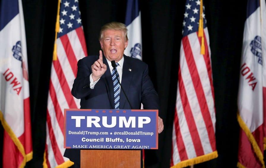Donald Trump Iowa Campaign Stop