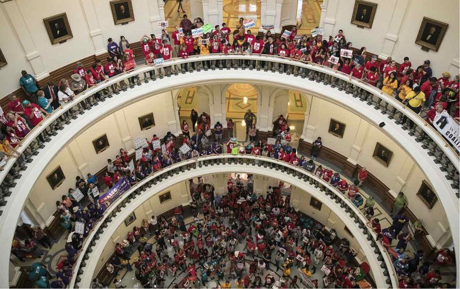 Texas Sanctuary City SB 4 Protest