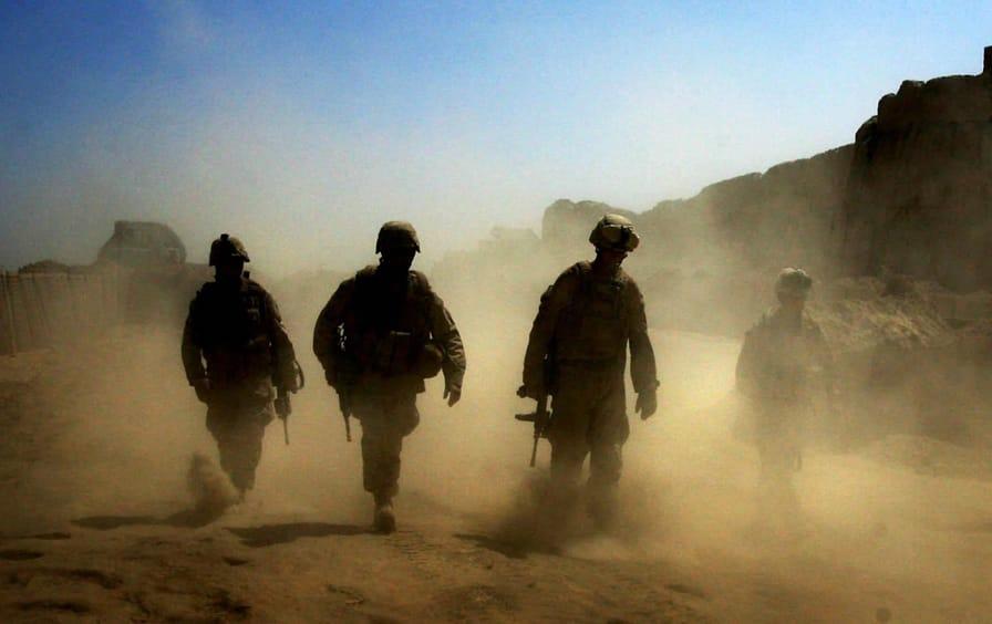 American troops on patrol in Afghanistan