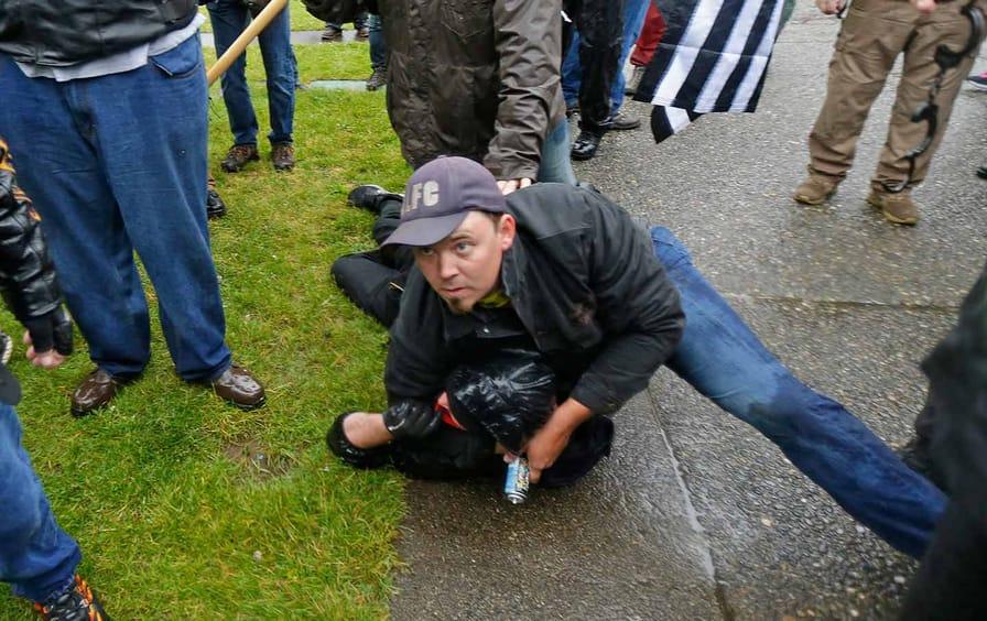 Evergreen Far Right Protest