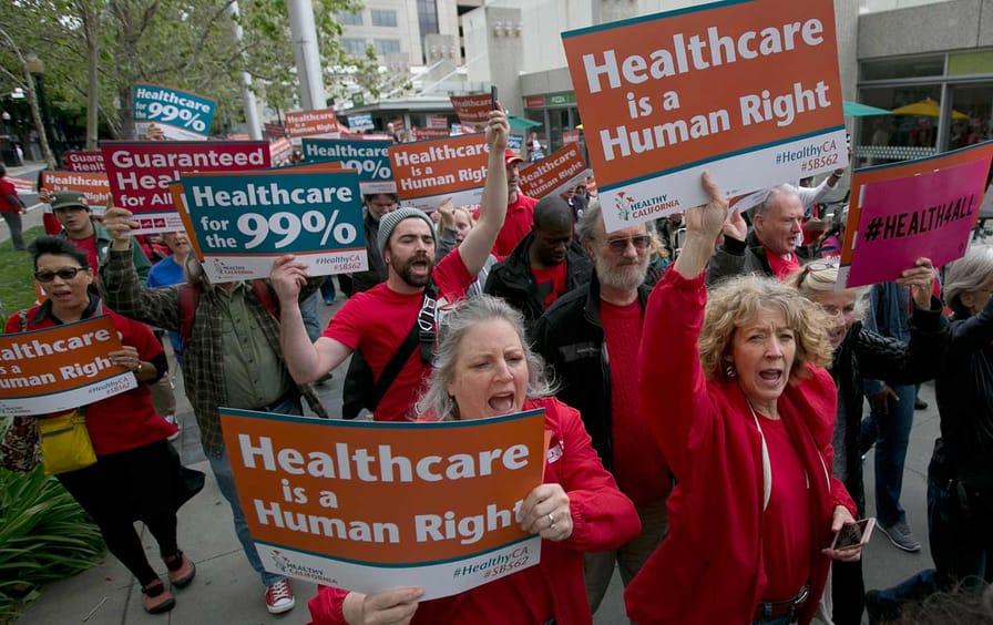 Health-care protest
