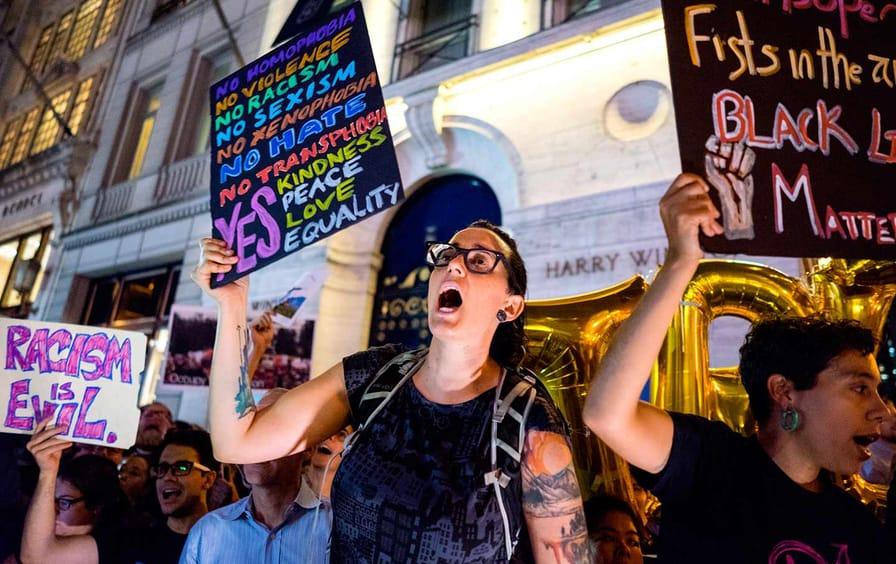 Trump Tower Protestors