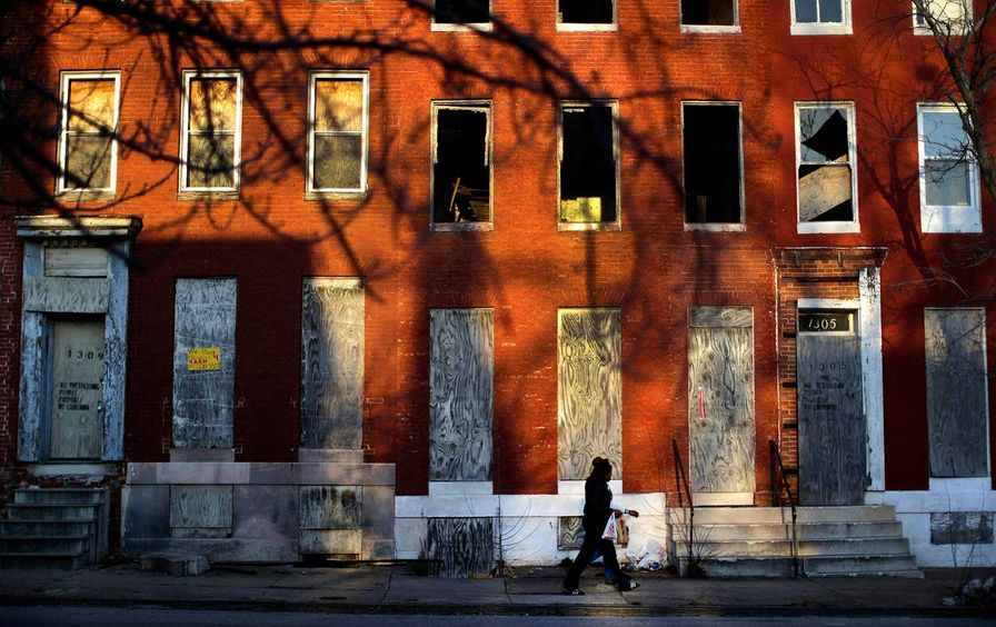 Baltimore row houses
