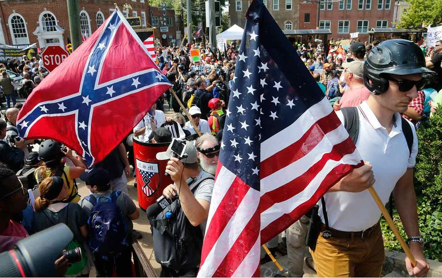 Confederate flag Charlottesville