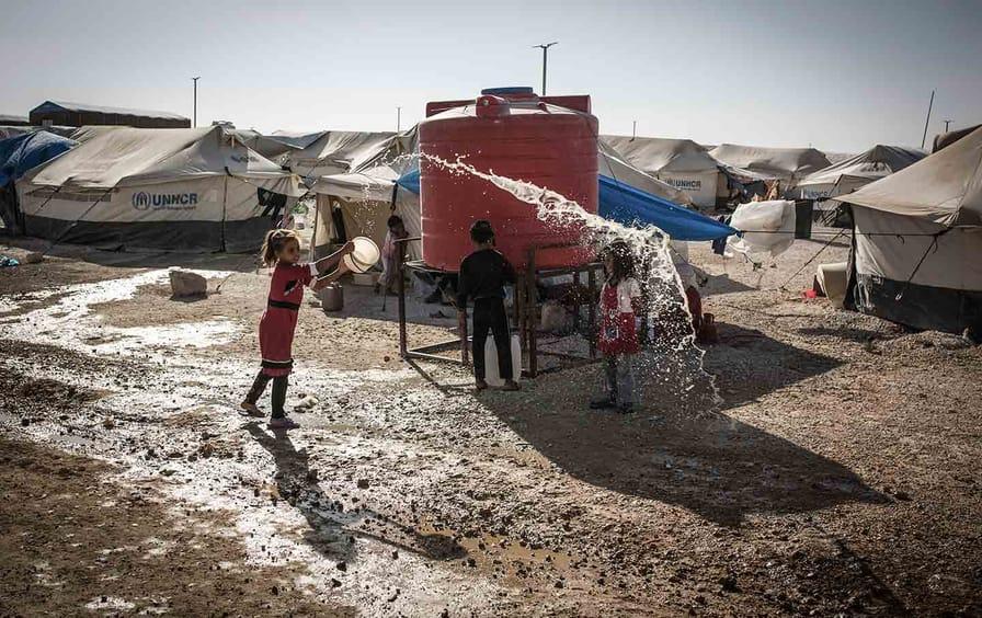 Ain Issa refugee camp