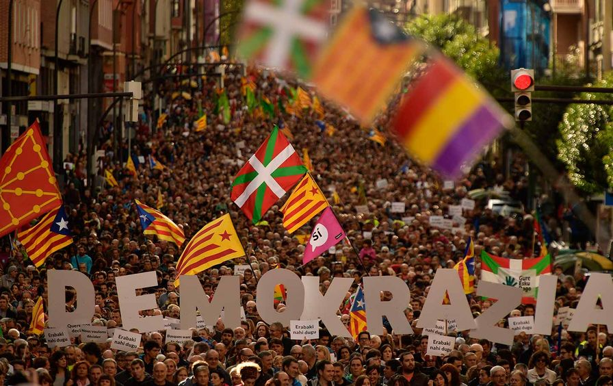 A pro-independence rally