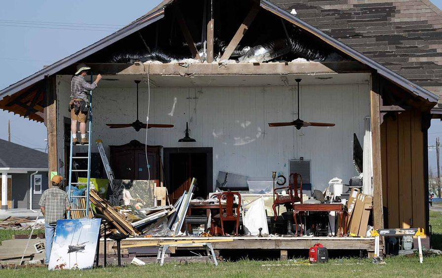 Damaged home in Texas