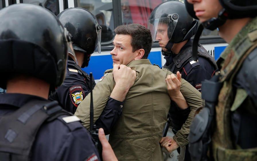 Ilya Yashin in Moscow