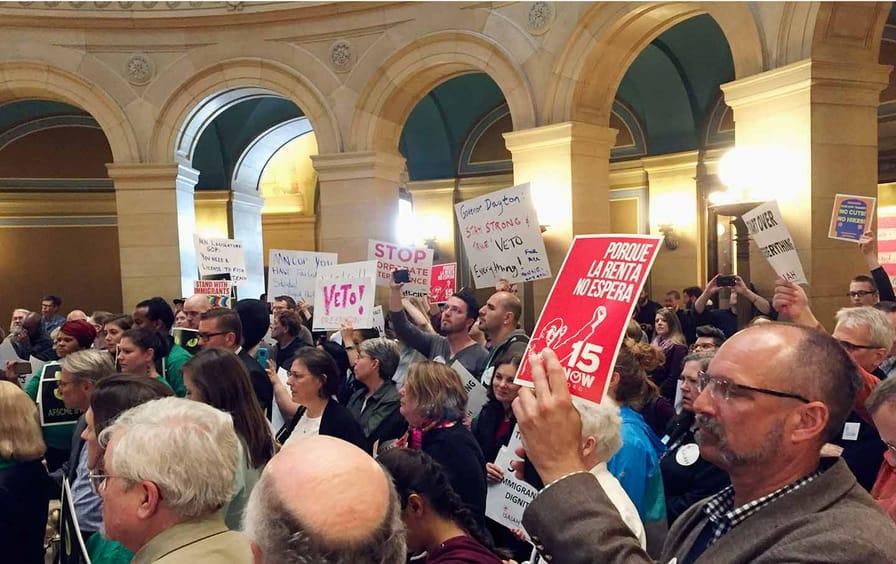 Minnesota wage protest