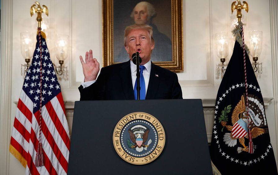 Donald Trump makes statement on Iran