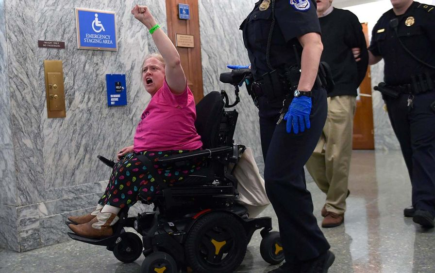 GOP repeal protester