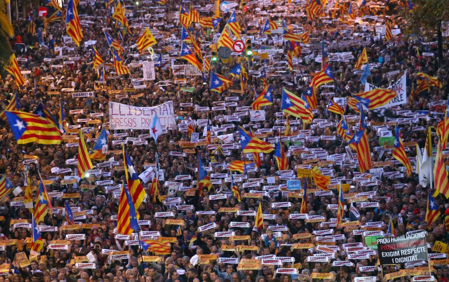 A pro-independence demonstration