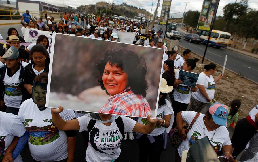Berta Cáceres march
