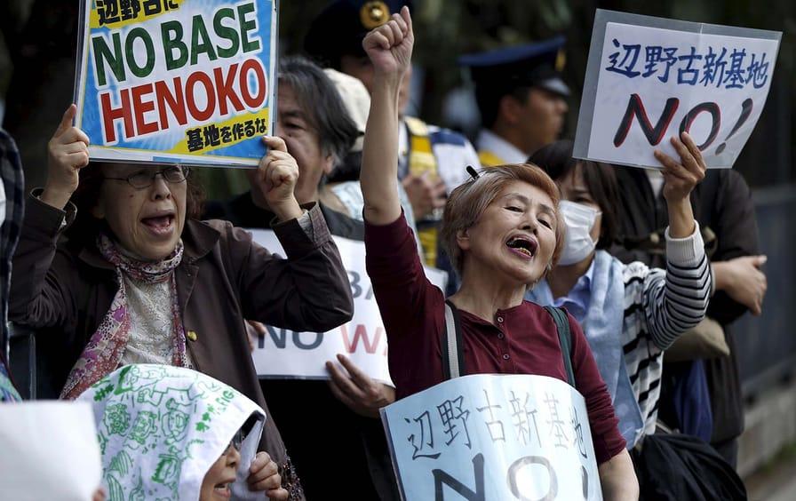 Protest US Base Heneko