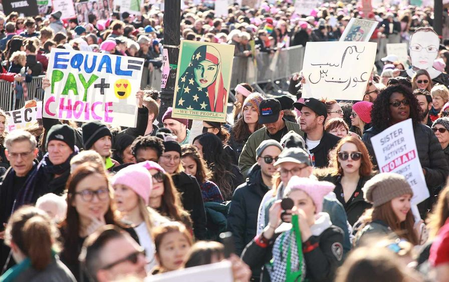 Women's March Crowd NYC 2018