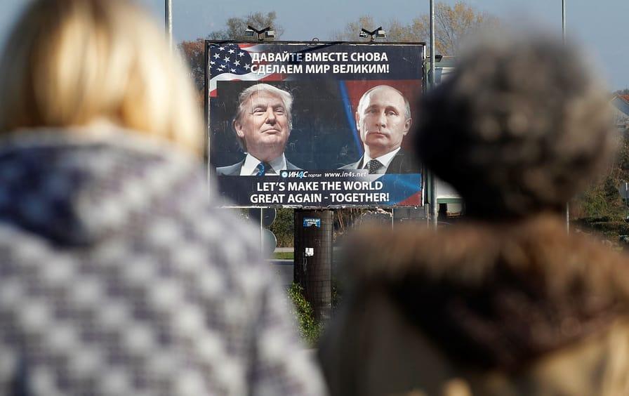 Putin Trump billboard