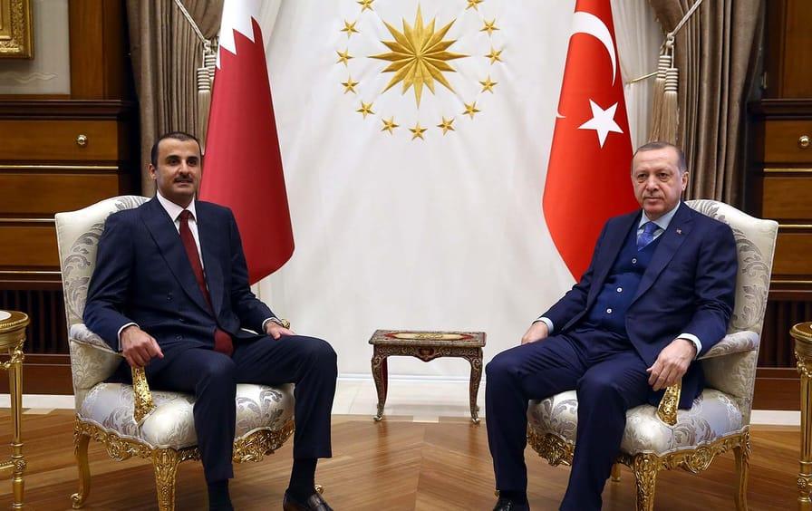Qatar's Al Thani and Turkey's Erdogan