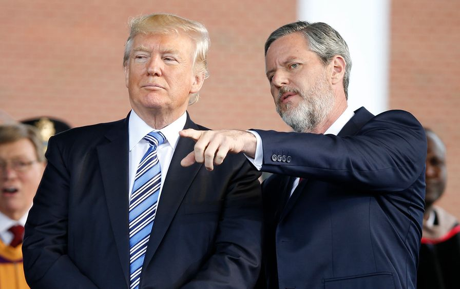 Donald Trump and Jerry Falwell