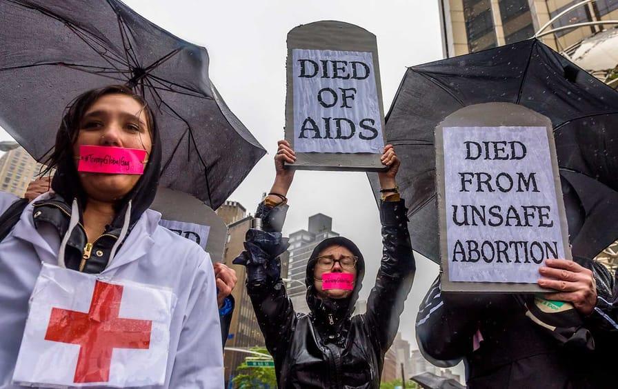 Women protest global gag rule
