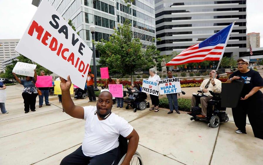 Medicaid Protest Mississippi