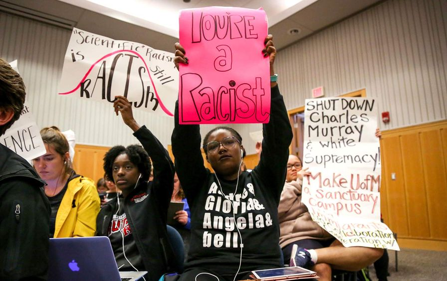 Students protest Charles Murray