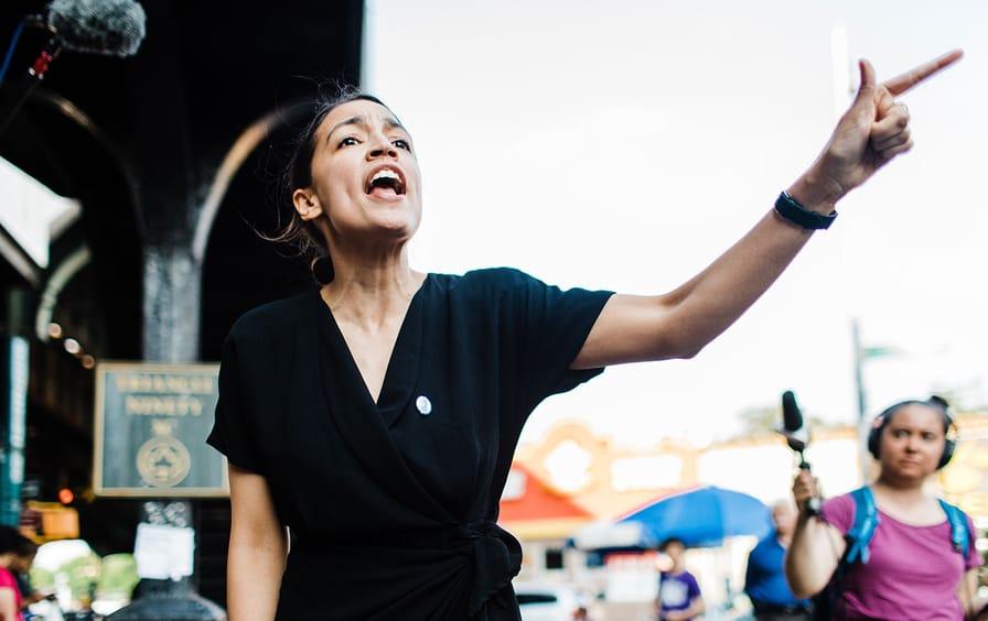 Alexandria Ocasio-Cortez on the campaign trail