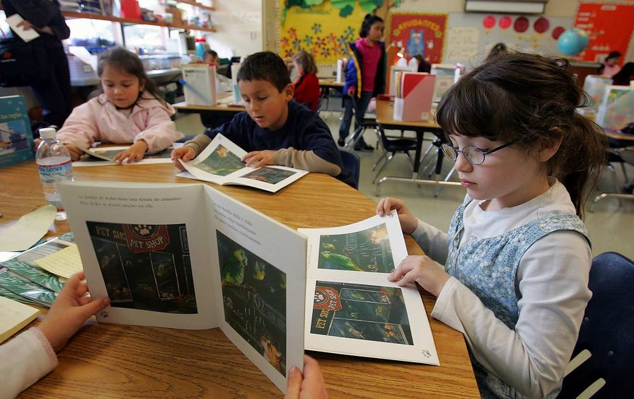 Bilingual classroom California