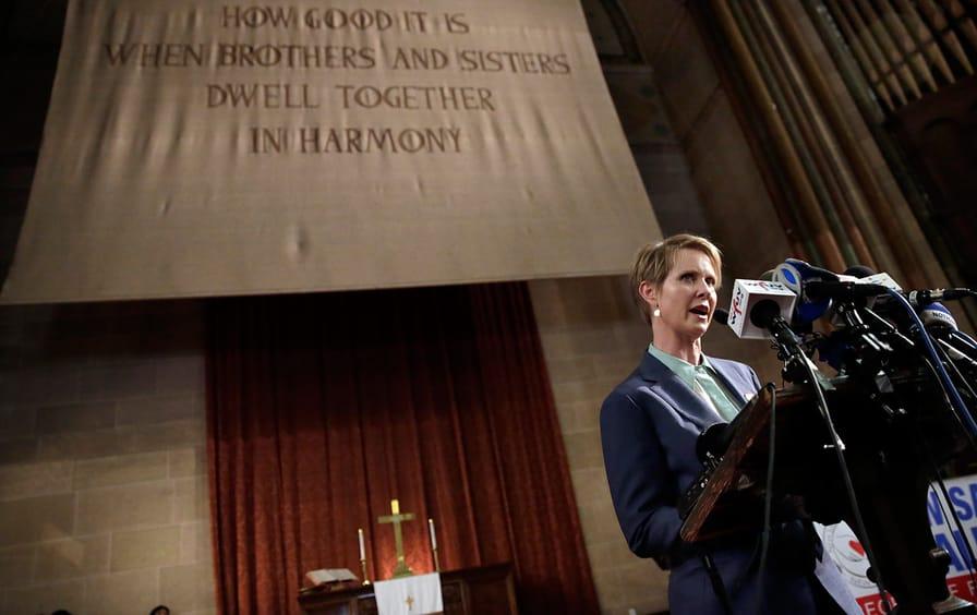Cynthia Nixon at St. Paul & St. Andrew Methodist Church