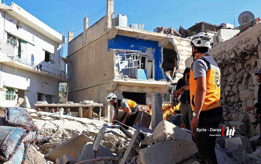 Destruction in Dera'a