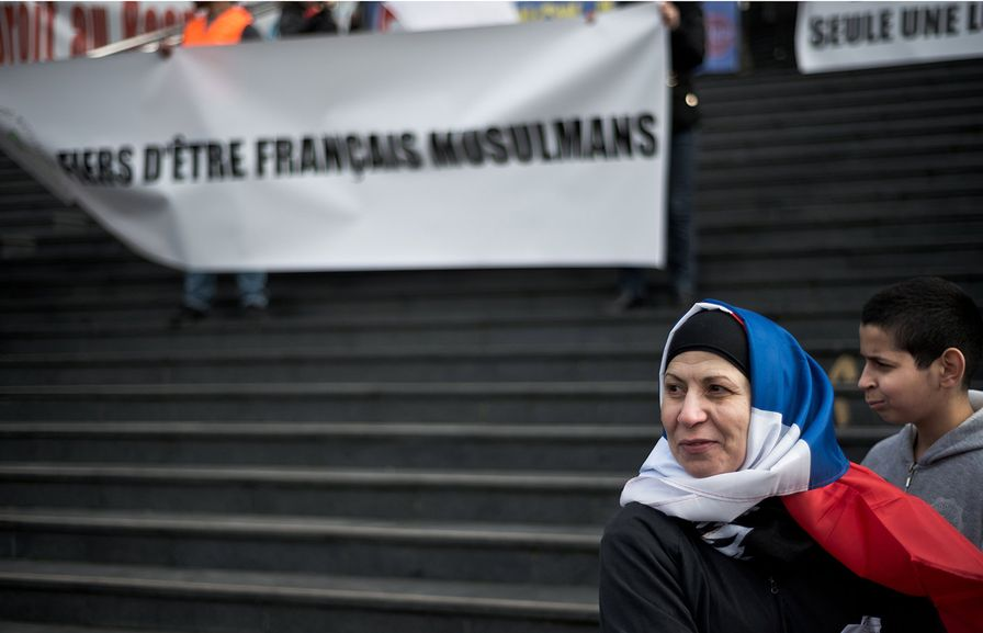 Protest Against Islamophobia in France