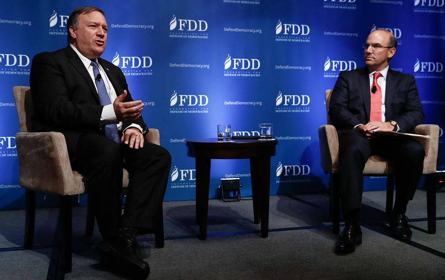Mike Pompeo and Juan Zarate at FDD conference