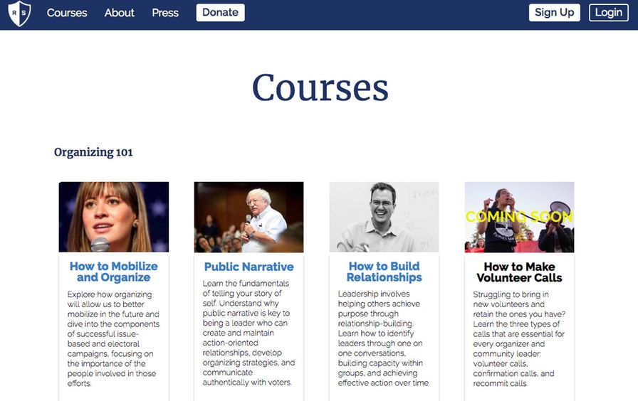 Resistance School courses