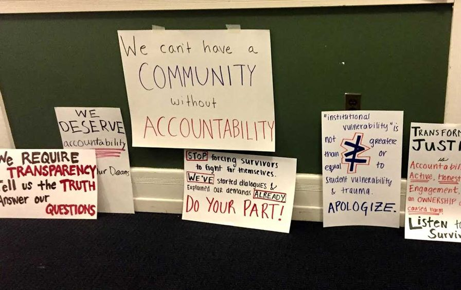 Signs from a protest.