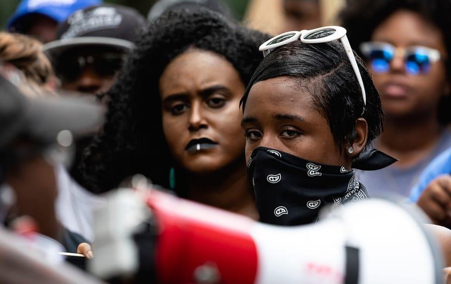 Black Lives Matter antifa protestors