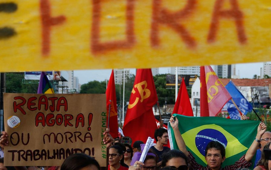 Temer protest