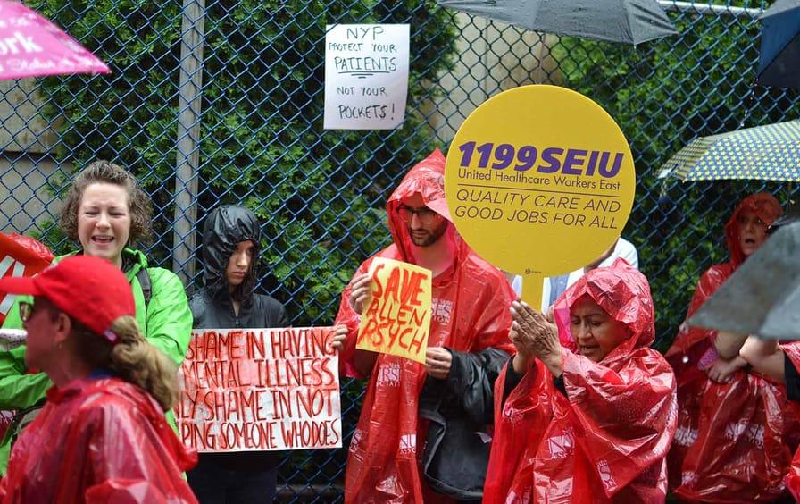 Save Allen Hospital demonstration