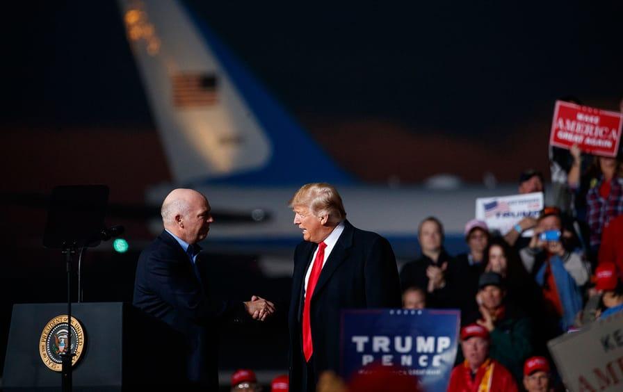 Trump and Gianforte handshake