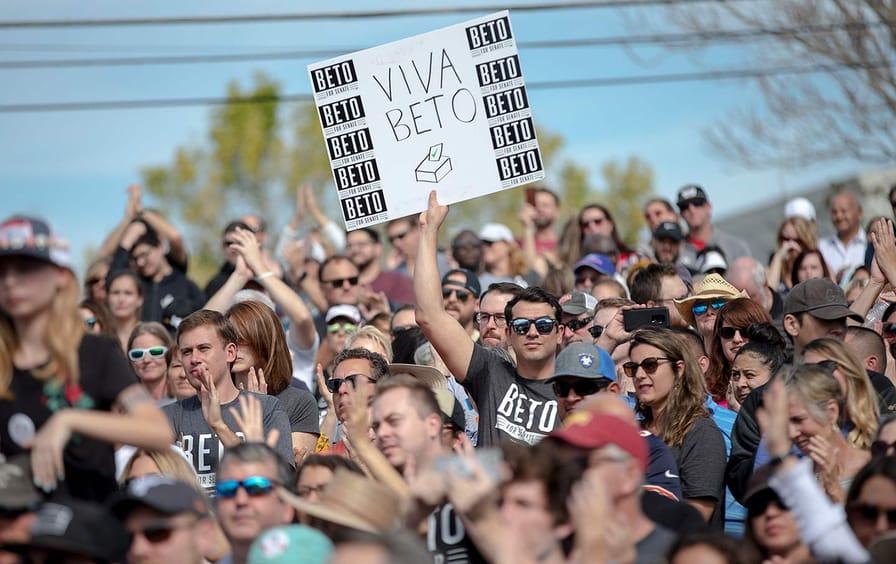 Beto O'Rourke supporters
