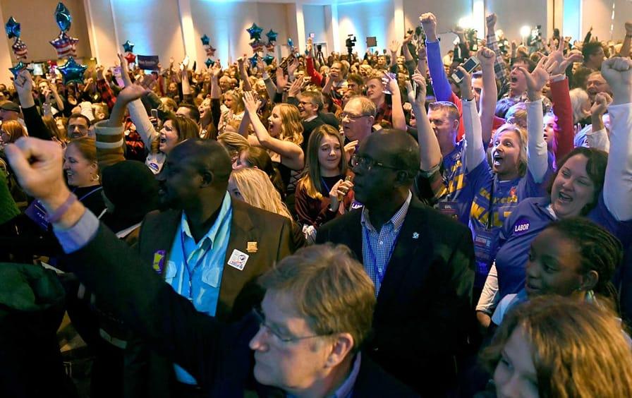 democrats celebrate in Minnesota