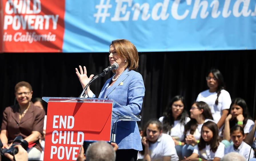 Pelosi Poverty Rally