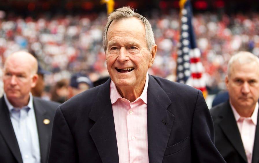 President George HW Bush in 2010