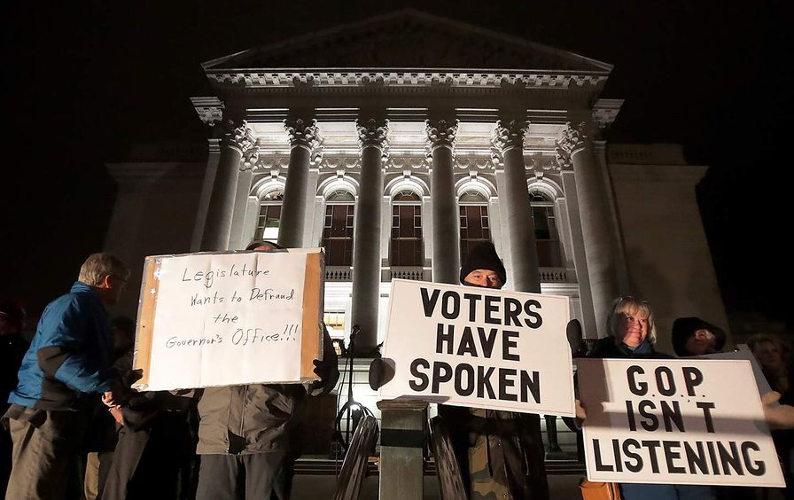 Madison WI GOP protest