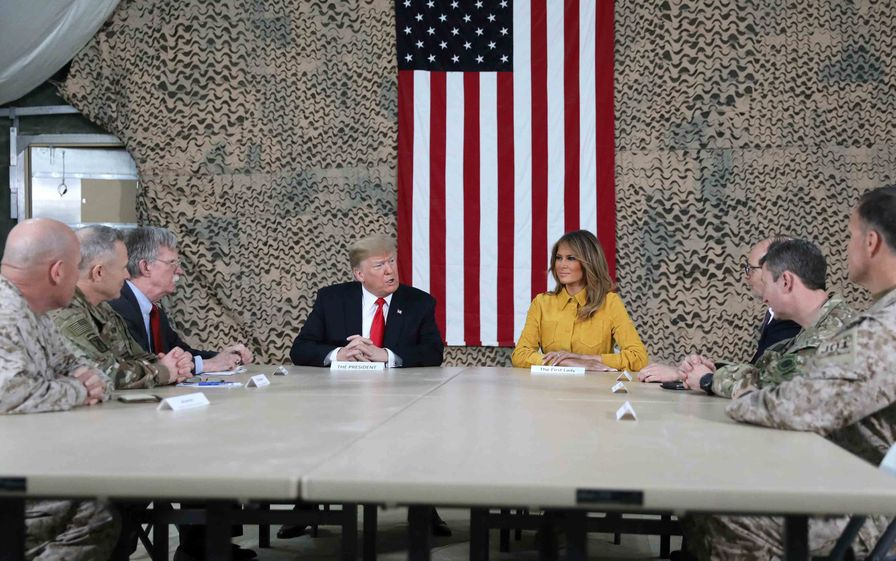 Trump at a military base in Iraq