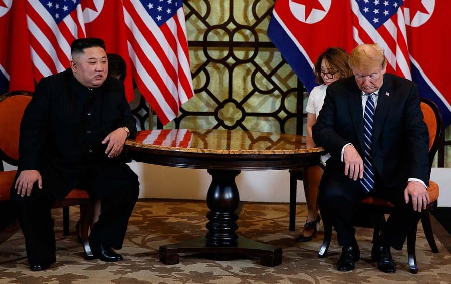 Trump and Kim in Vietnam