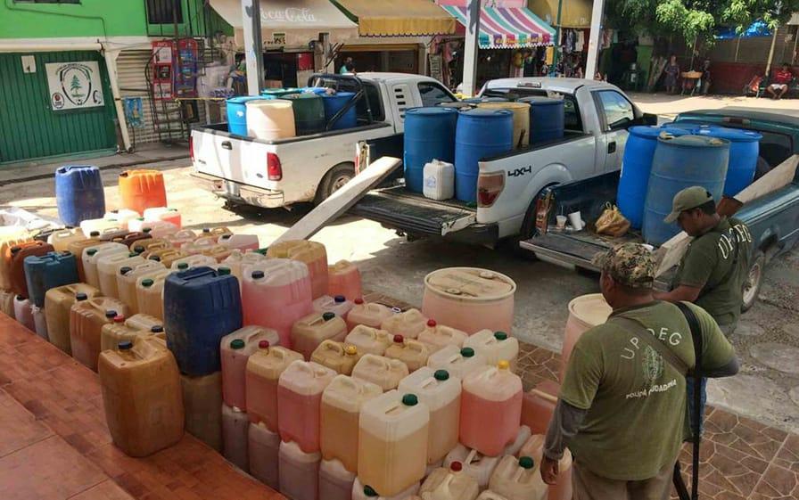 Stolen gasoline in Mexico