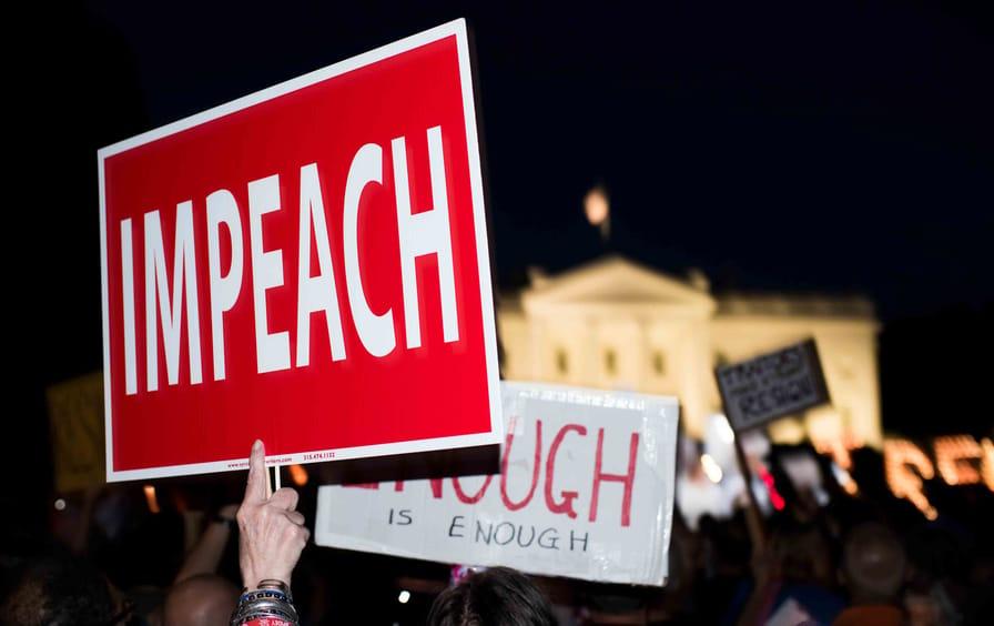 Protesters demand Trump's impeachment
