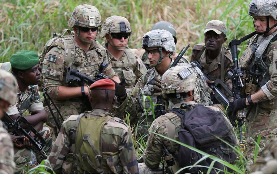 U.S. soldiers in Africa