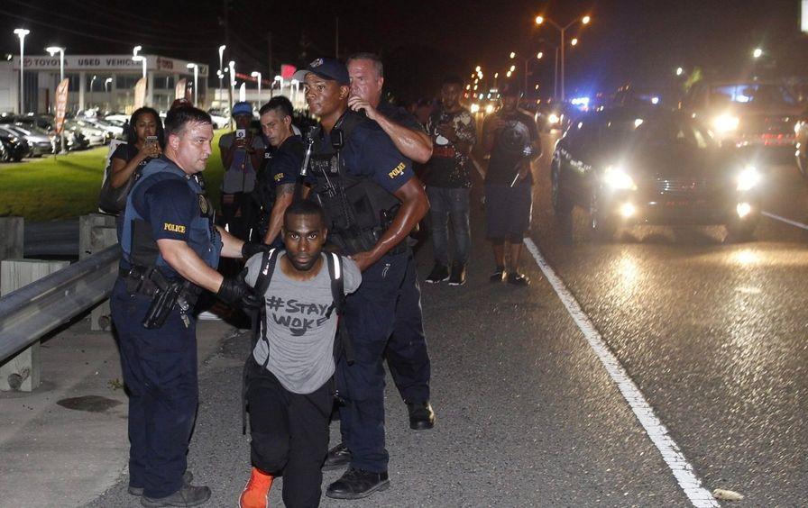DeRay McKesson Protest Arrest